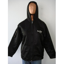 Hard Rock Cafe Campera T3 Raso Negro Capucha (ana.mar)