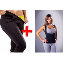 Set De Calza + Musculosa Neotex Reducir Adelgazar Mf Shop