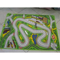 Carpeta Alfombra Infantil Pistas Ciudad 100 X 140