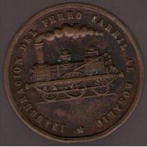 Medalla Ferrocarril Al Rosario 1873 Mb+