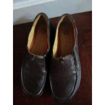 Zapatos Cuero Marron Plantilla Anatomica Super Comodos 38
