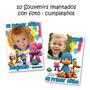 Pocoyo - 10 Souvenirs Imantados De Cumpleaños Con Foto Super