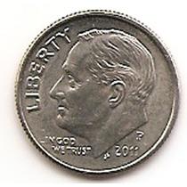 Moneda Estados Unidos De One 1 Dime 10 Centavos Año 2011 P