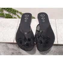 Sandalias De Red Color Negra Y Peltre N°36. Ultimos Pares!!!