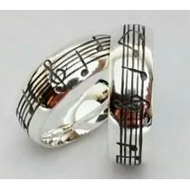 Alianças Em Prata 950 Notas Musicais