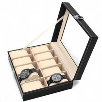 Relojera. Estuche Para 10 Relojes Porta Relojes Relojero