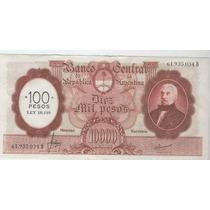 Billete 10000 Pesos M/n Sobrecargado Estado Sin Circular-!!!