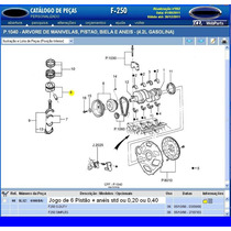 Anéis Dos Pistões Da F250 4.2 Gasolina 98a03