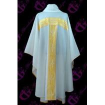 Casulla Incluye Estola Con Galon Ancho Liturgico Iglesia