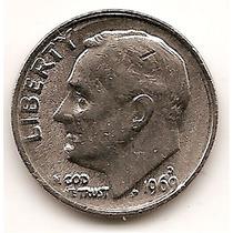Moneda Estados Unidos De One Dime 10 Centavos Año 1969 D