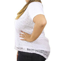 Blusa Preta Mullet Renda E Brilho Moda Plus Size Frete Free!
