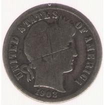 Estados Unidos Usa 1 Dime 1903-0 B-