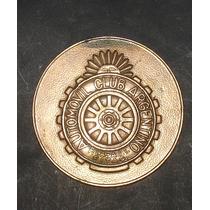 Antigua Medalla En Cobre Del Aca 75 Aniv. Citon Alberto