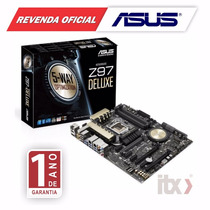 Placa-mãe Asus Lga 1150 Z97-deluxe Sli/cfx Usb 3.0 Wi-fi Ac