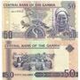 Billete Gambia 50 Dalisis Año 2010 Pajaro Sin Circular