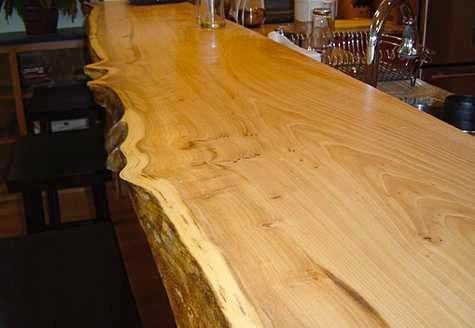 Mesada tabla barra desayunador pasaplato madera dura cocina ...