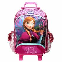 Mochila Escolar Com Rodas Frozen Princesa Ana 60219 Dermiwil