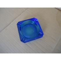 Cenicero De Vidrio Azul