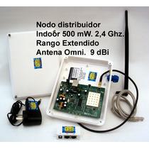 Access Point 2,4 Ghz, 500 Mw.,nodo Indoor, De Alta Ganancia