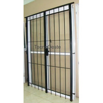 Puerta Ventana 150x200 Aluminio Blanco Cvidrio Y Puerta Reja