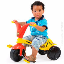 Triciclo Motoca Pedal Passeio Infantil Tigrao Menino Xalingo