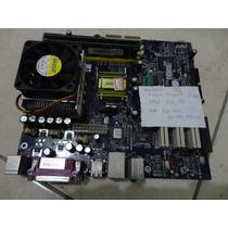 Placa Mae Foxconn Pc400m01g Processador Memoria Veja Anuncio
