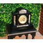 Historical*-reloj Chimenea Mármol Inglés Siglo 19-garantido