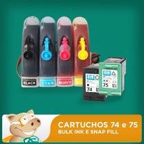 Bulk Hp Cartuchos 74 E 75 Adaptado / Tintas / Frete Grátis