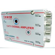 Amplificador De Señal De Cable Tv Repartidor 4 Salidas 30db