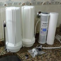 Purificador Agua Sobremesada Doble, Filtros Cto Y Sedimentos