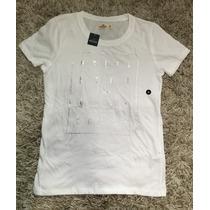 Camiseta Feminina Hollister Tamanho M Original Com Etiqueta