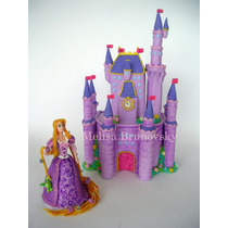 Rapunzel 15 Cm + Castillo, Enredados, Disney Para Torta