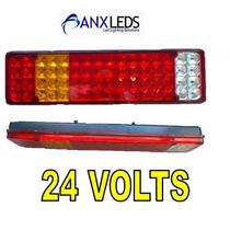 Lanterna De Led Traseira Para Caminhão 24 Volts - 64 Leds