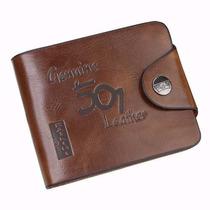 Carteira Masculina Em Couro Leather Genuine.