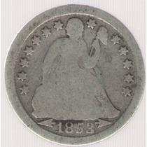 Estados Unidos Usa 1 Dime 1853 Mb-