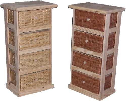 Muebles Cajoneras Ordenadores De Pino Y Mimbre - $ 1.254,00 en ...