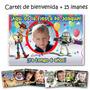 Cumple Toy Story: Cartel De Bienvenida + 15 Souvenirs Imanes