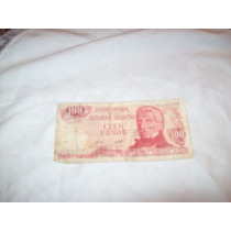 Aurojul-billete 100 Pesos Banco Central Rep.argentina
