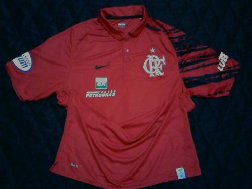 Promoção! Camisa Polo Flamengo Oficial Nike Viagem 2008 2009 - R  79 ... d3a5a858e7f25