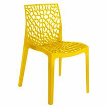 Cadeira Gruvyer Amarela Italiana Polipropileno Rivatti