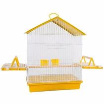 Gaiola Calopsita Papagaio (60 X 26 X 45 Cm) Amarela Melhor $