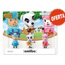 Amiibo Paquete De 3 Figuras Animal Crossing Nuevo Sellado