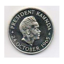 Zambia 5 Shillings Año 1965 Conmem.proff Mm 1104