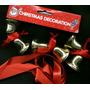 Lote 6 Campanitas Navidad De A Pares C/cinta Raso P/decorar