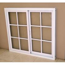 Aberturas Ventana Aluminio Blanco Repartido 120x90 C/vidrios