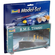 Gift Set R.m.s. Navio Titanic 1/1200 Vem Cola Tinta Pincel