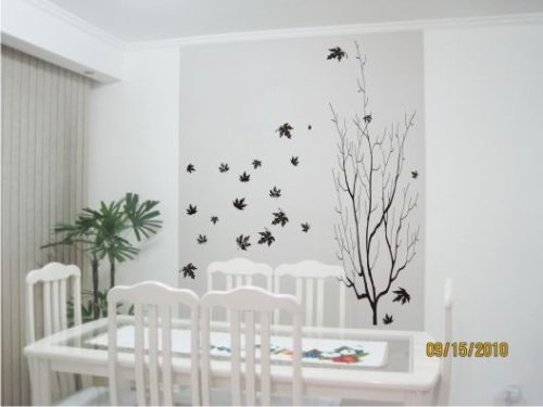 Decorar paredes adesivo arvore canadense r 59 87 em - Tecnicas para pintar paredes interiores ...