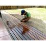 Deck Instalacion Completa Eucaliptus Premium Impregnante