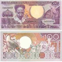Billete Surinam 100 Gulden Año 1986 20 Dolares Superoferta!!