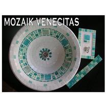 Bachas De Apoyo Baño Con Venecitas Y Vitrofusion